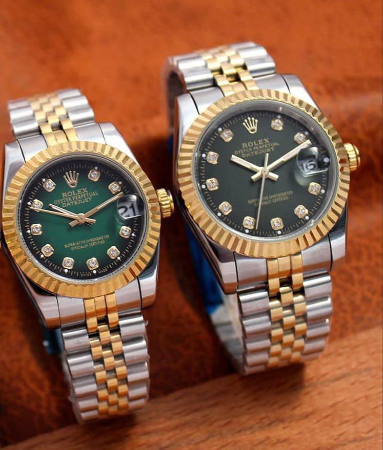 ساعت رولکس صفحه سبز نگین دار